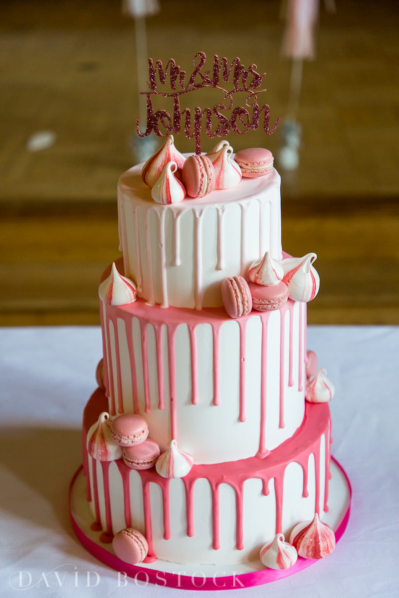 Ashmolean wedding pink meringue cake