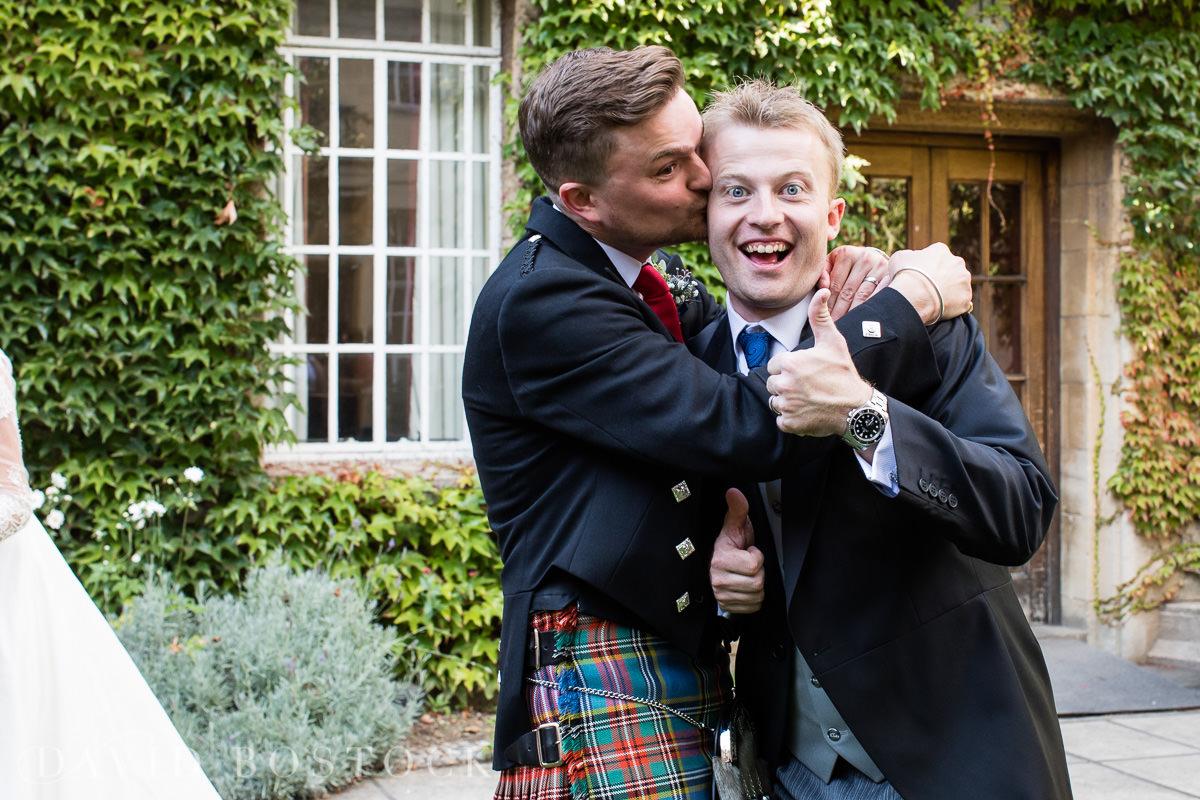 Ashmolean wedding Regents Park College fun groom photo