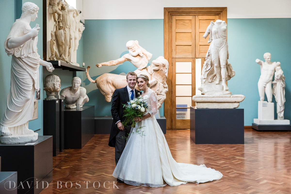 Ashmolean wedding bride and groom