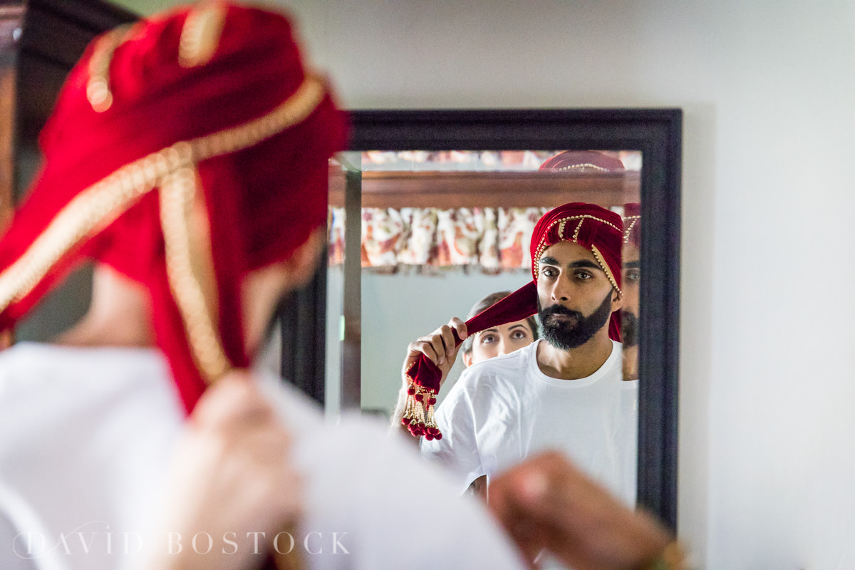 Caswell House wedding Indian groom
