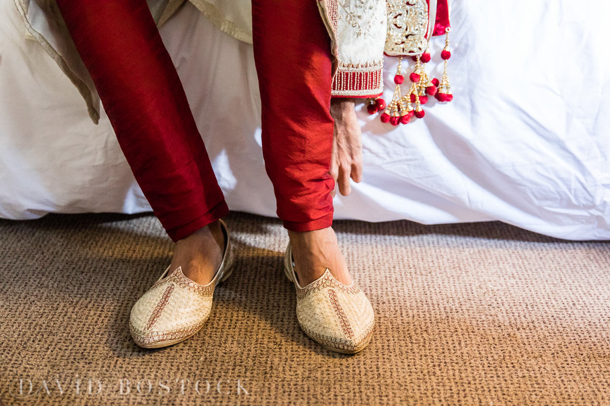 Caswell House wedding groom shoes