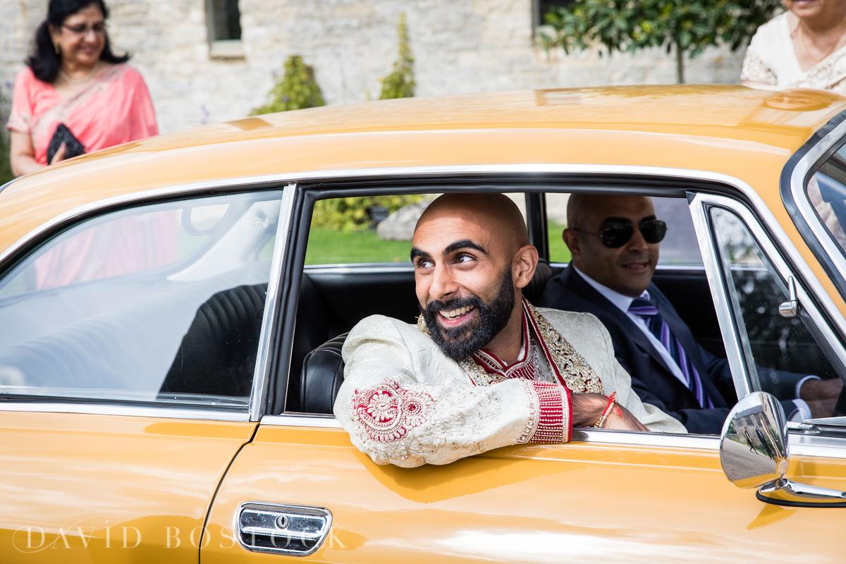 Caswell House wedding Alfa Romeo