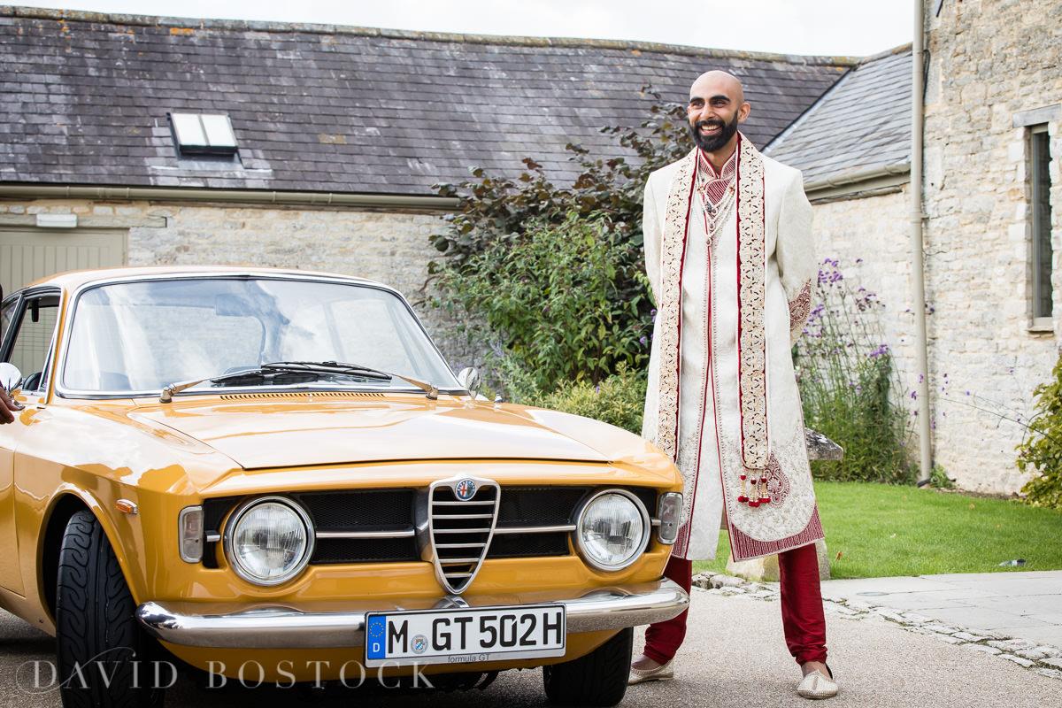 Caswell House wedding vintage Alfa Romeo