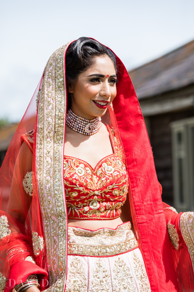 Caswell House wedding Hindu bride