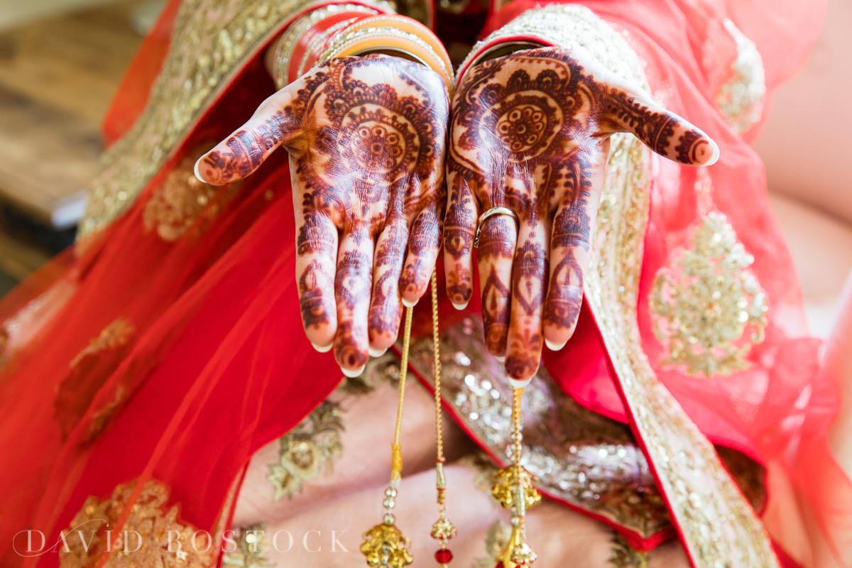 Caswell House wedding henna hands