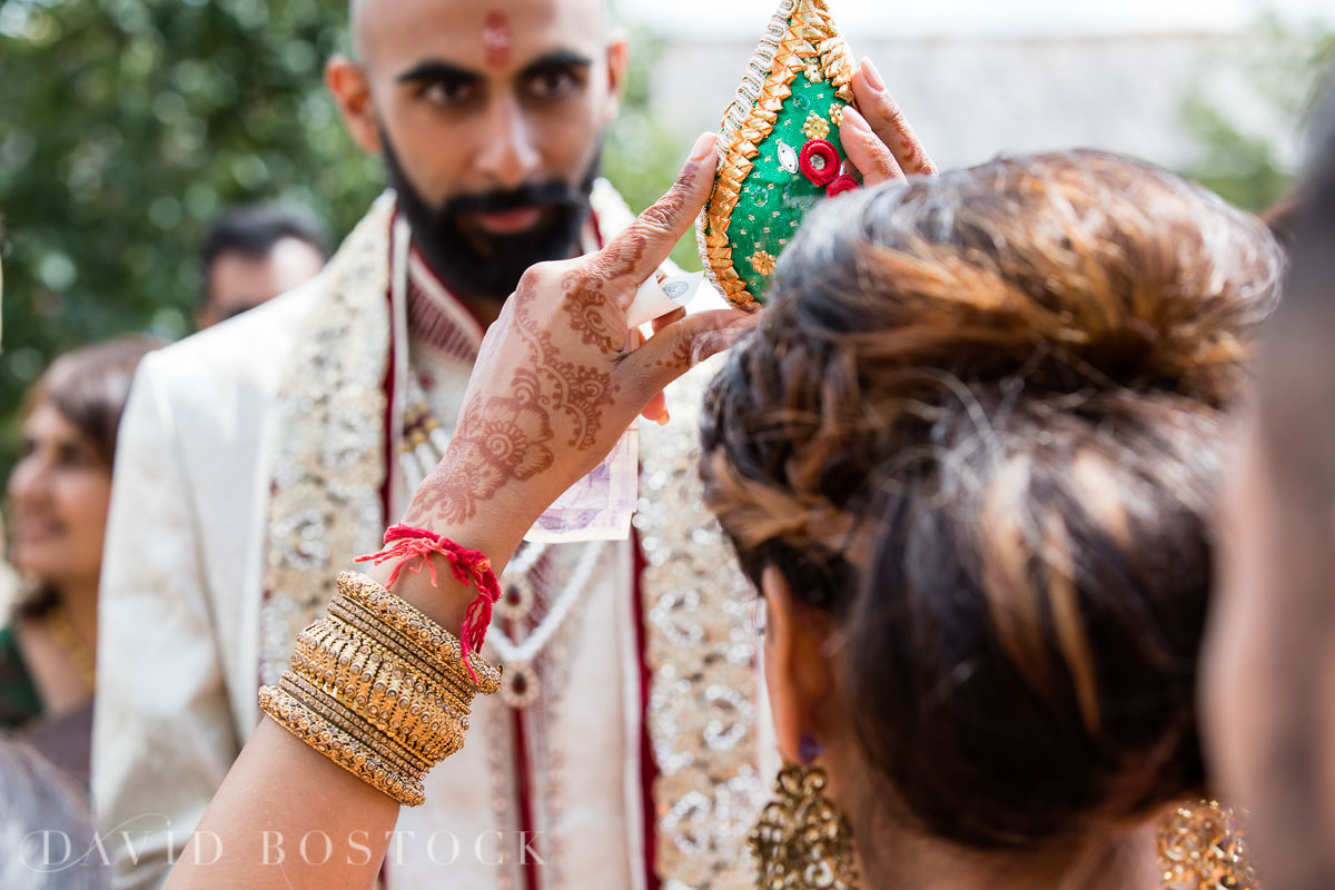 Caswell House wedding Hindu coconut