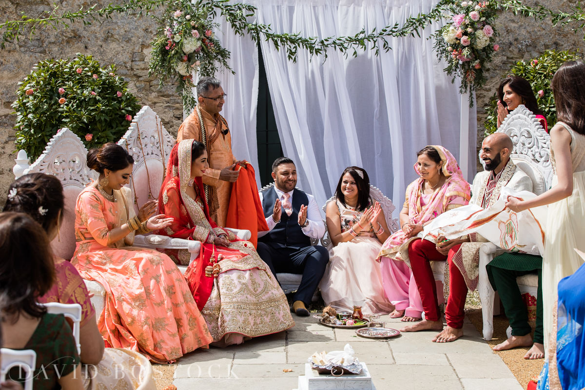 Caswell House wedding Hindu ceremony family