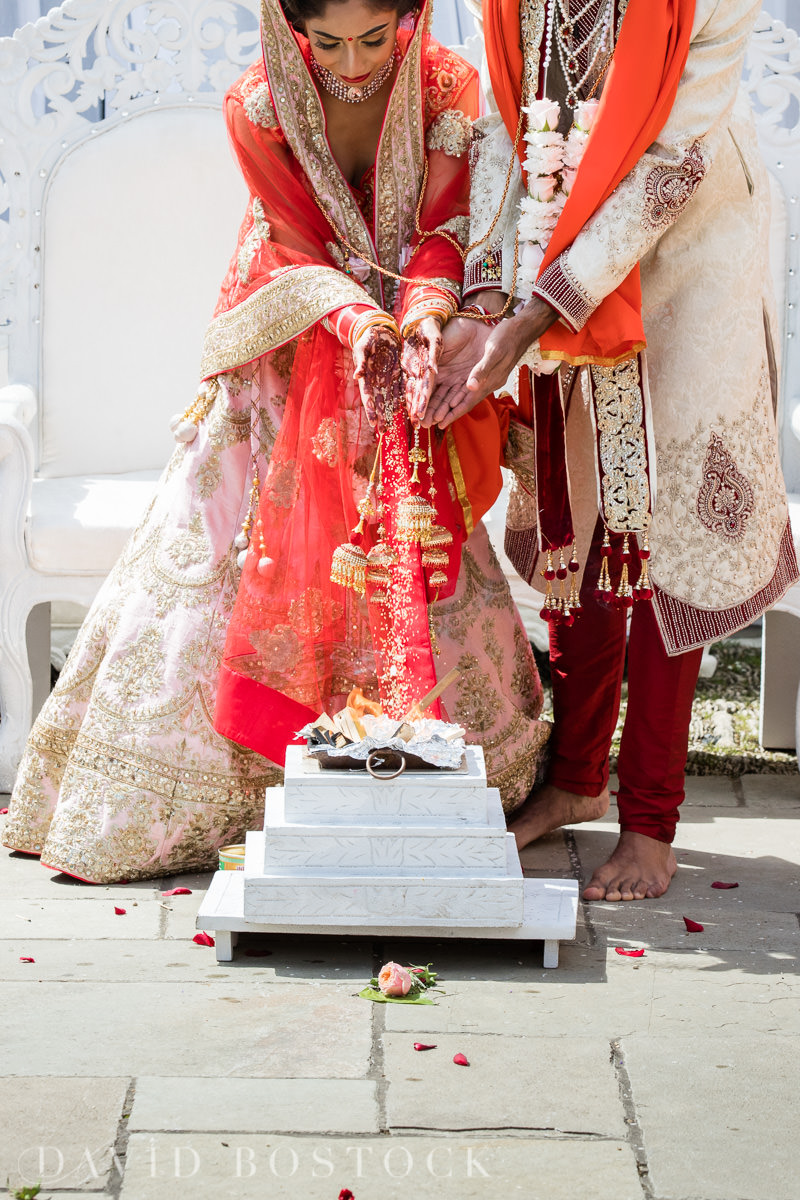 Caswell House wedding Indian ceremony detail