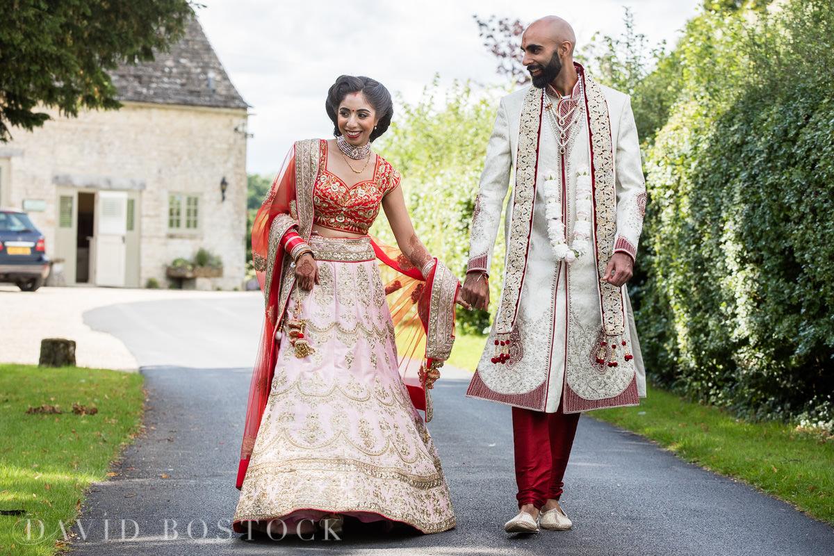 Caswell House wedding sweet bride and groom