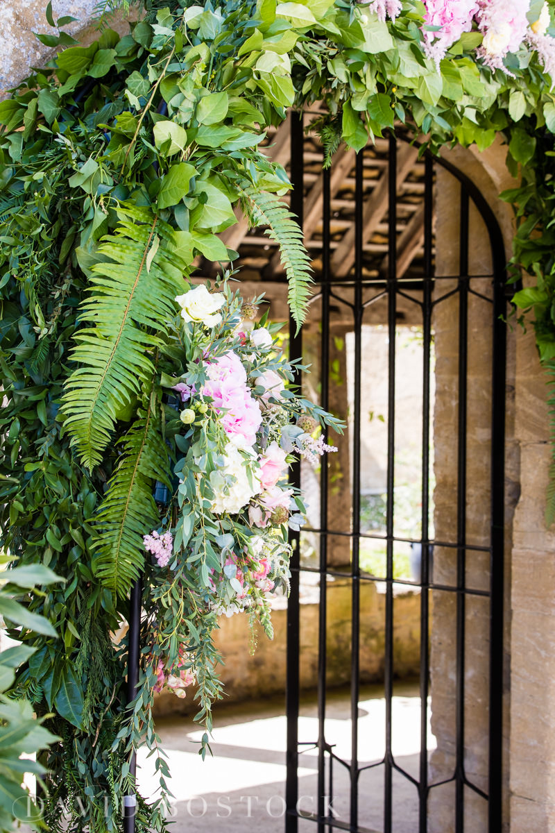 Caswell House wedding floral arch