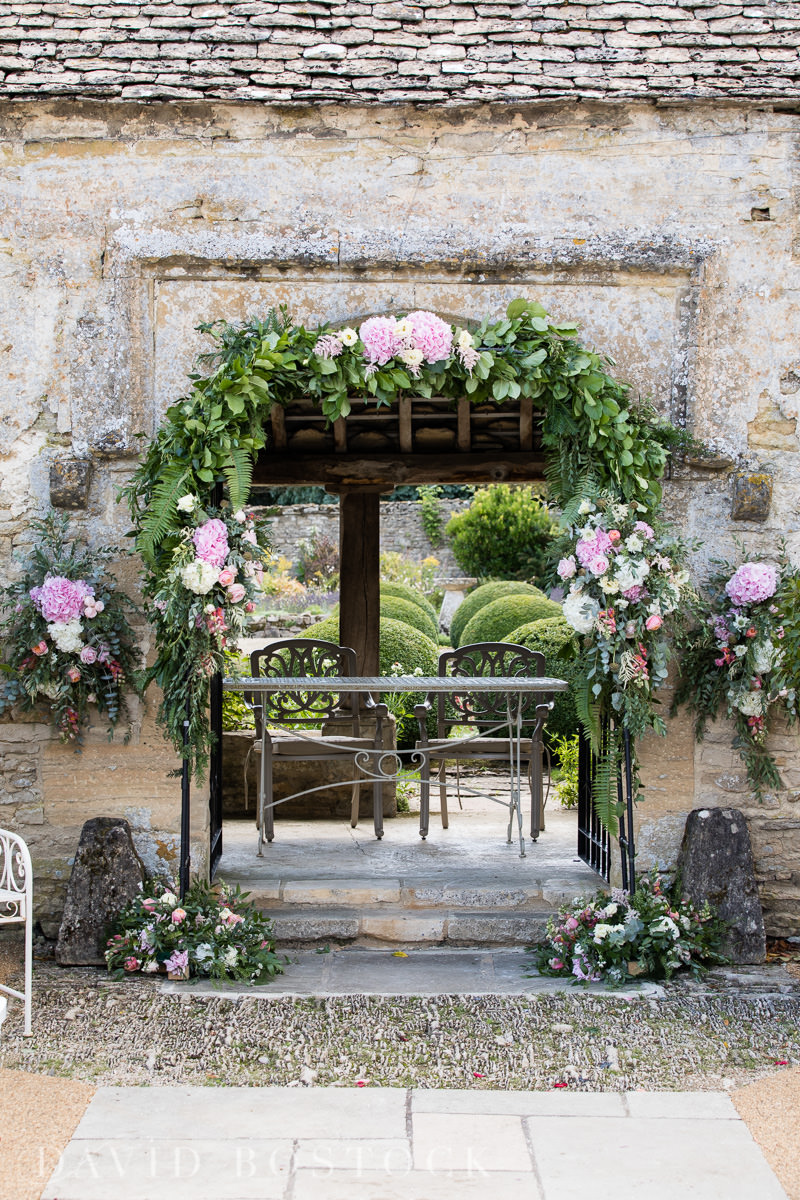 Caswell House wedding pretty flower arch