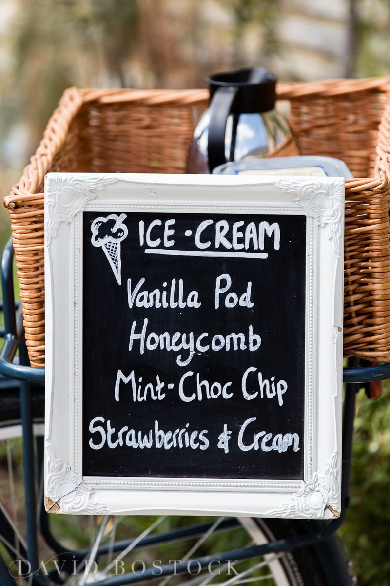 Caswell House wedding ice cream trike
