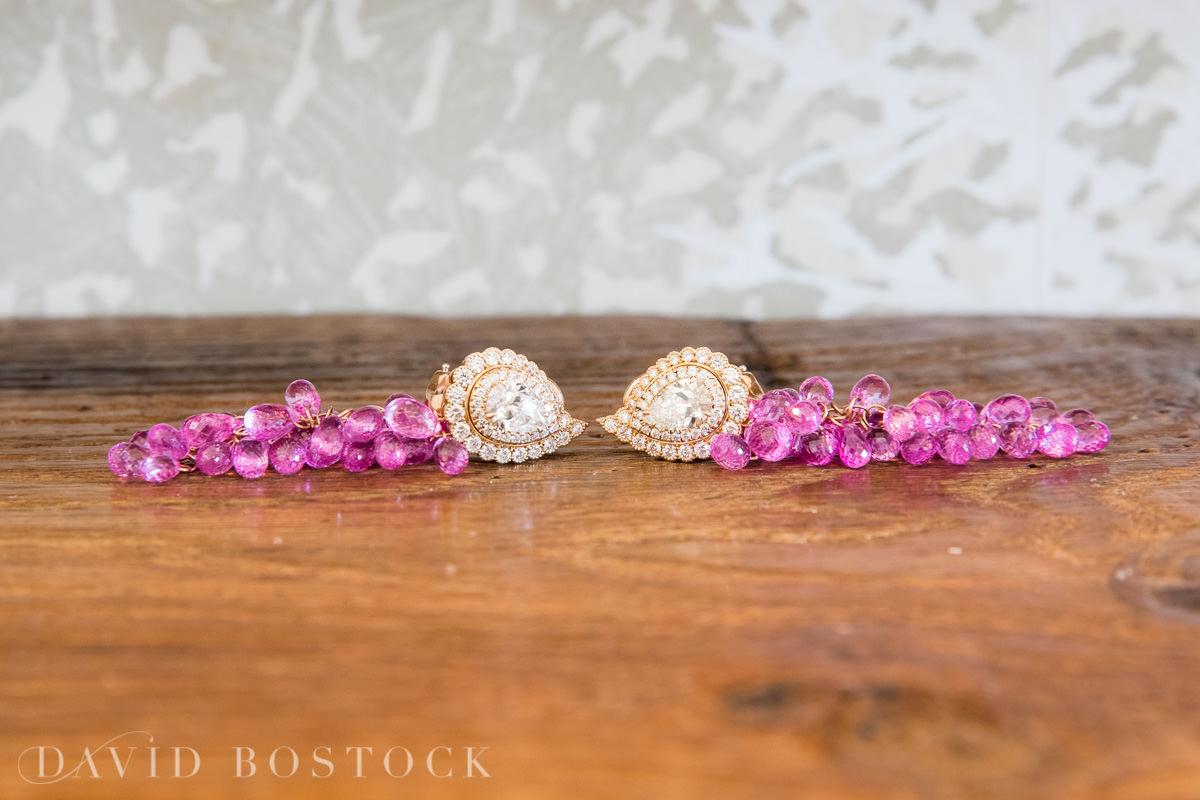 Caswell House wedding bride earrings