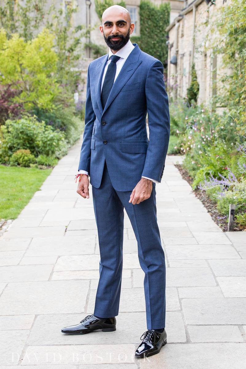 Caswell House wedding smart groom