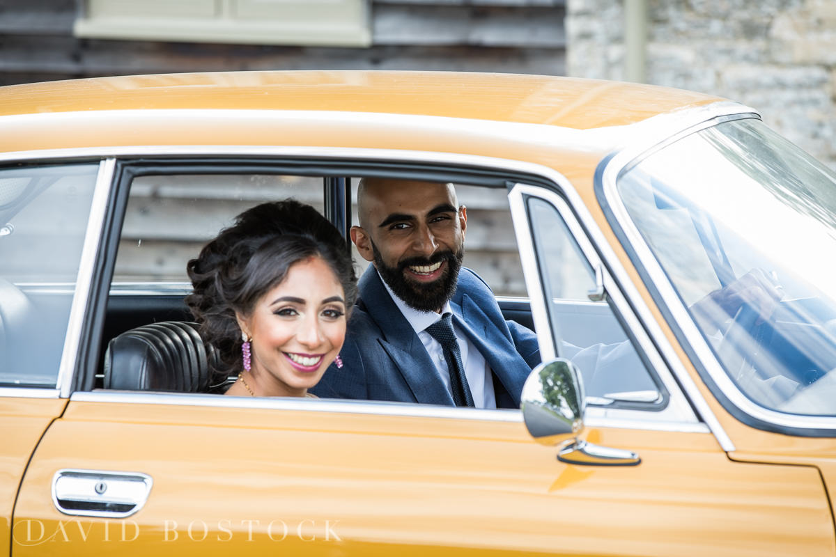 Caswell House wedding vintage car