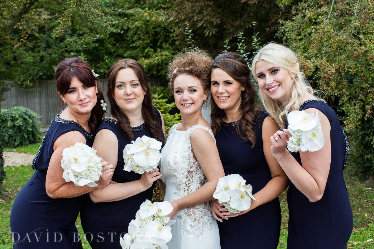 The Crazy Bear bride and bridesmaids