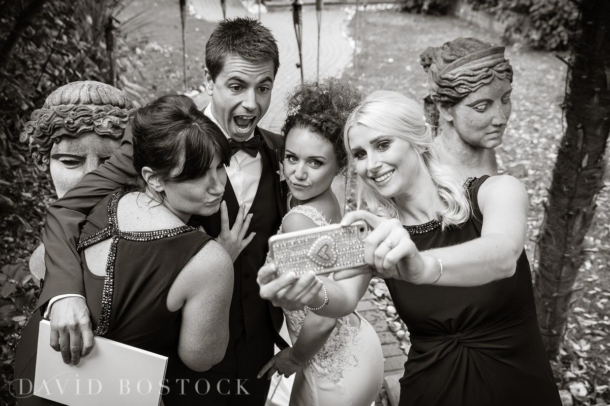 The Crazy Bear wedding selfie