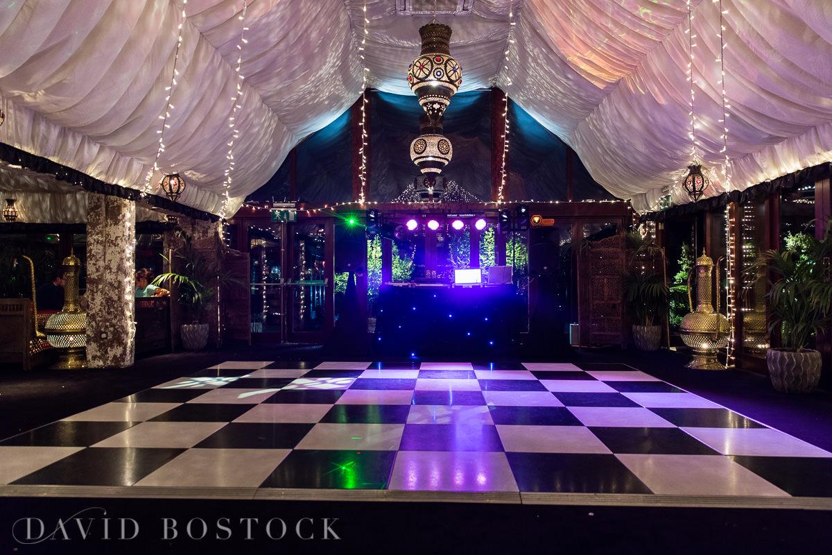 The Crazy Bear wedding dance floor