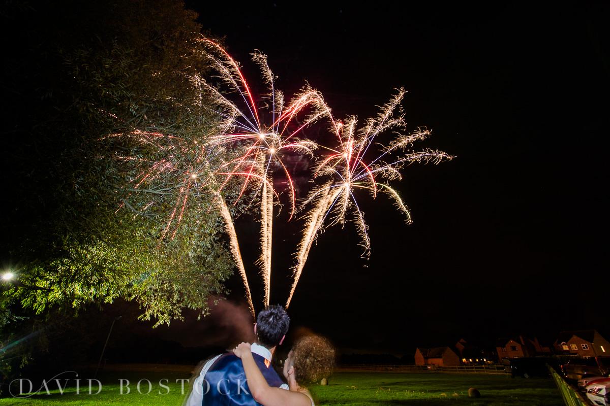The Crazy Bear wedding fireworks