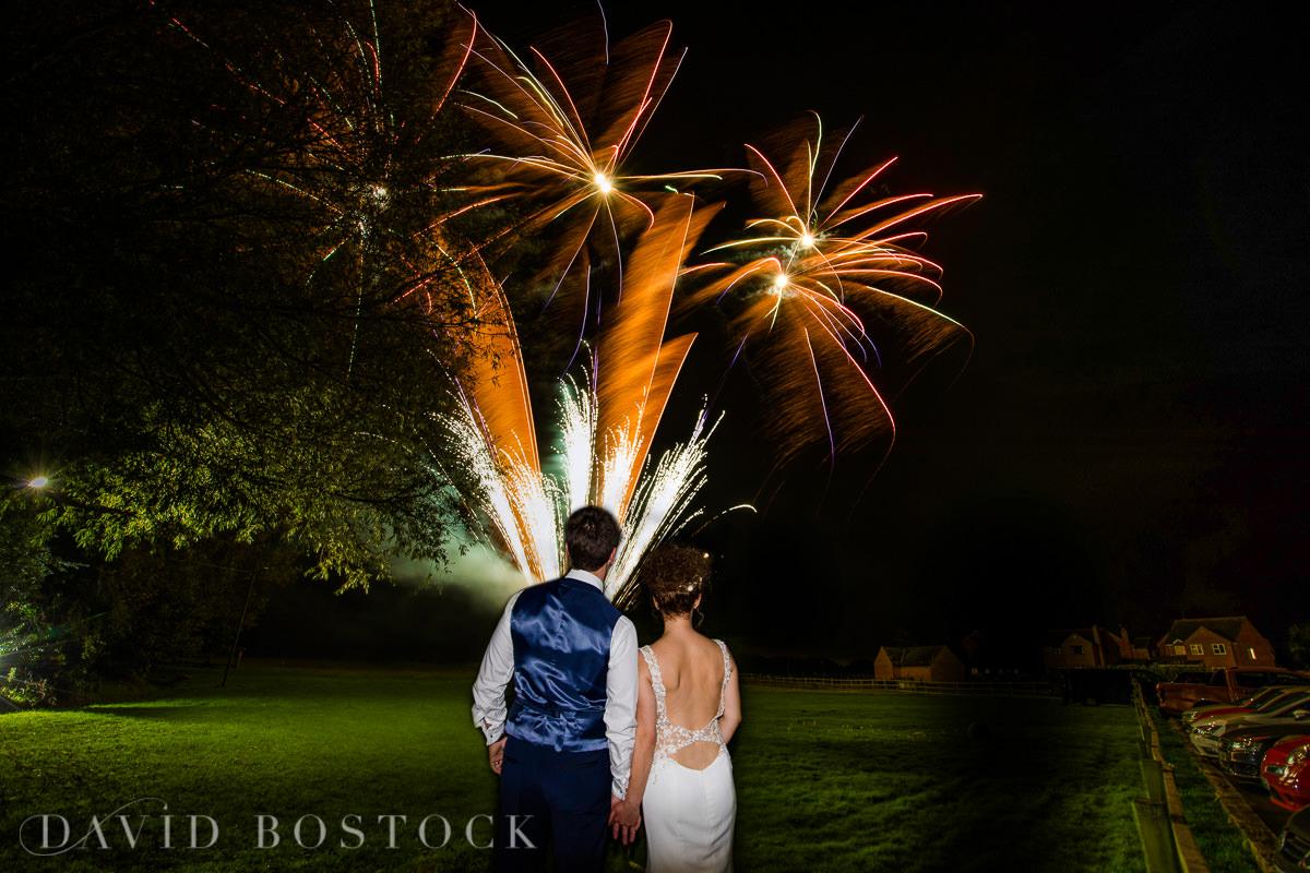 The Crazy Bear romantic wedding fireworks