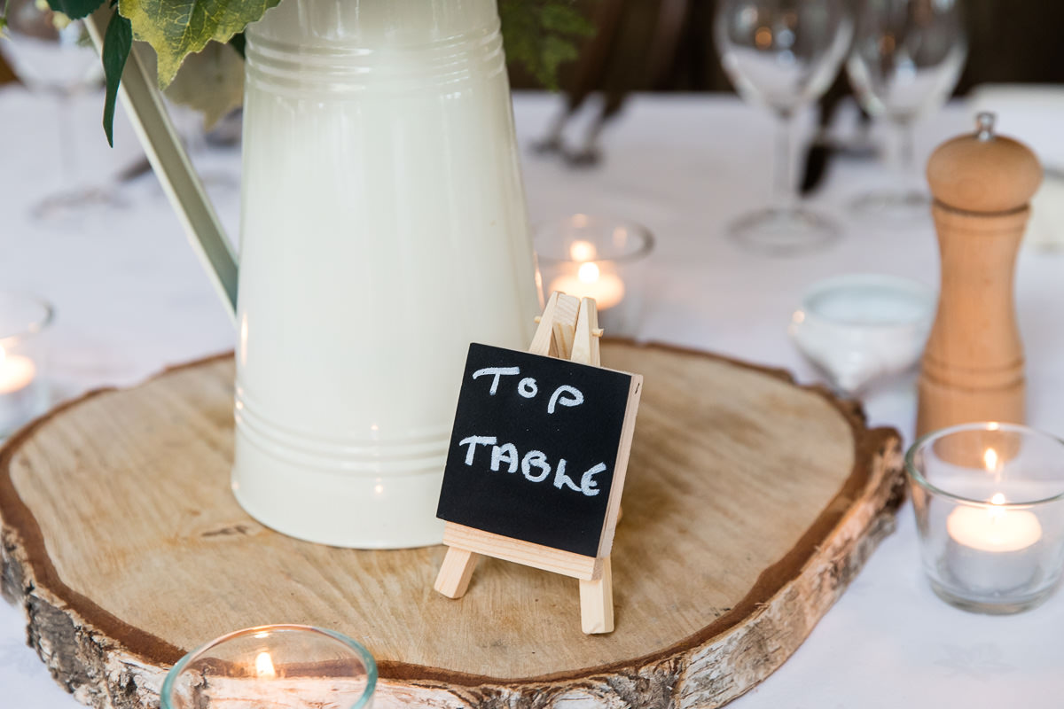 Cripps Barn wedding table setting