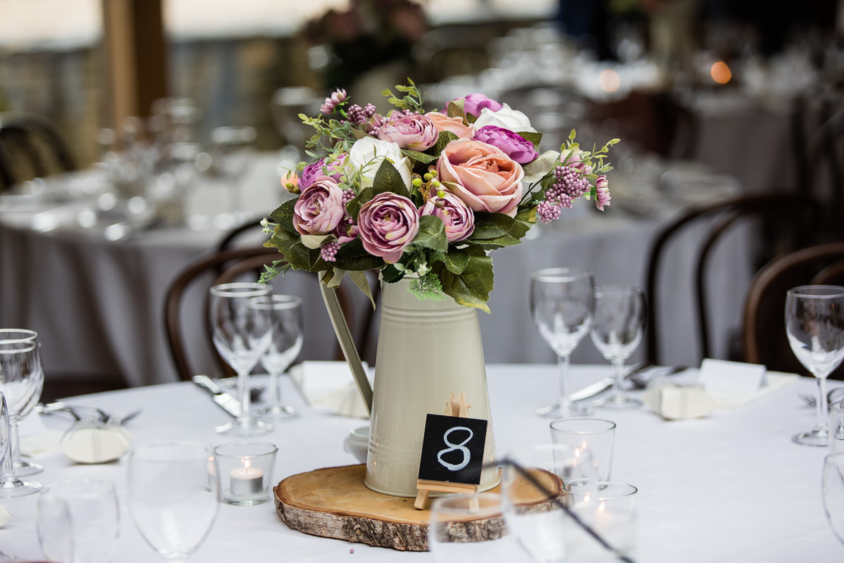 Cripps Barn wedding table flowers
