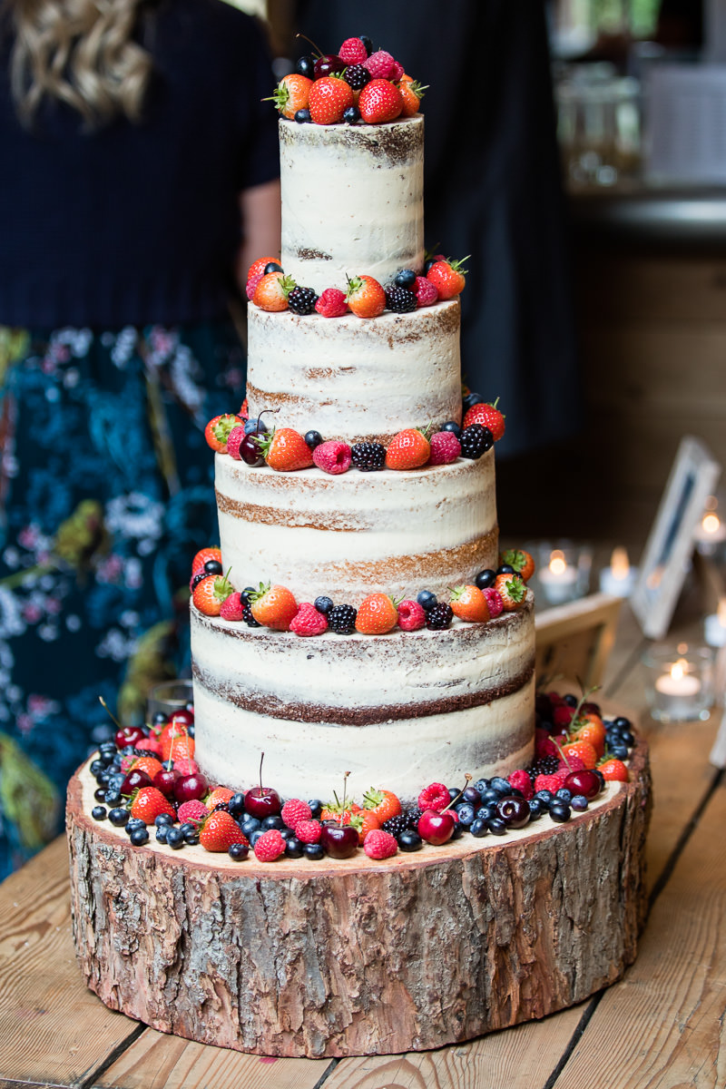 Cripps Barn wedding semi-naked cake