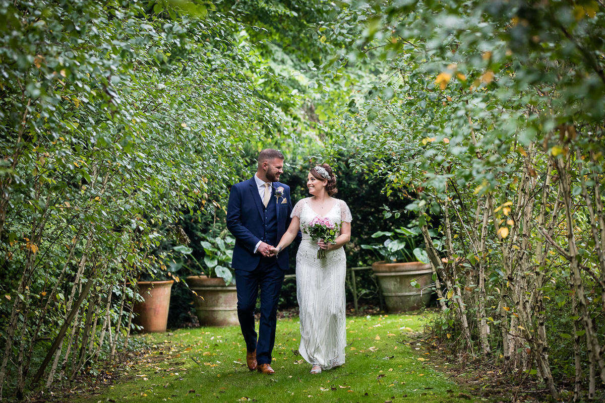 Cripps Barn wedding romantic couple
