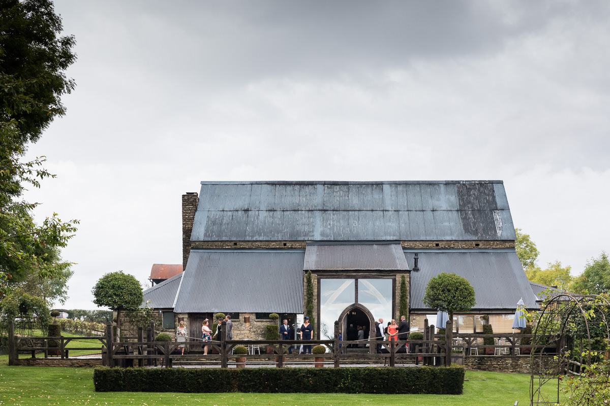 Cripps Barn wedding exterior shot