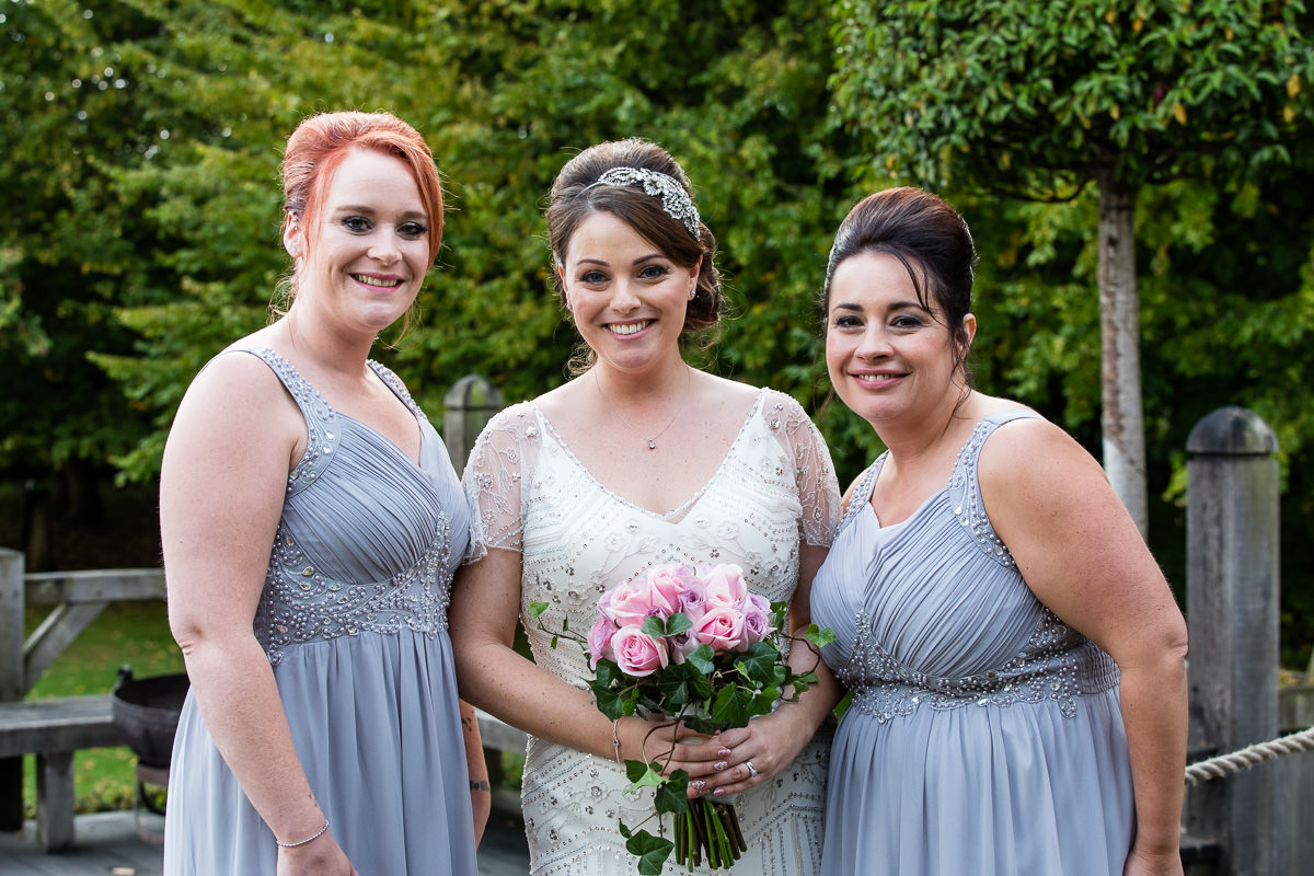 Cripps Barn wedding bride and bridesmaids