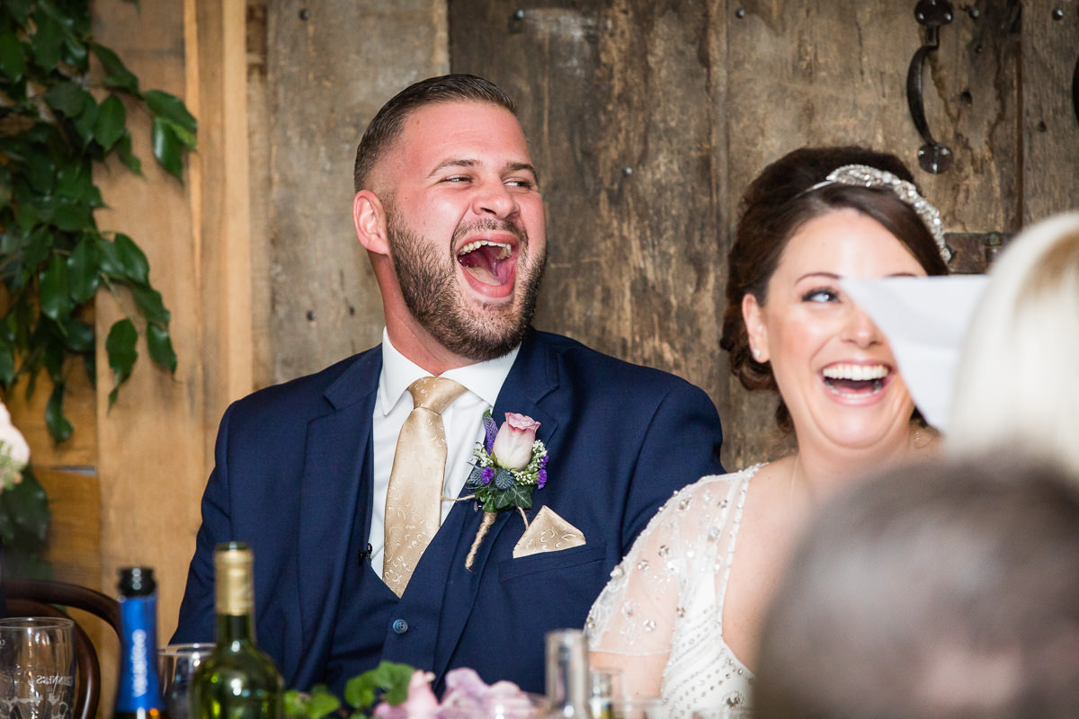 Cripps Barn wedding laughing speeches