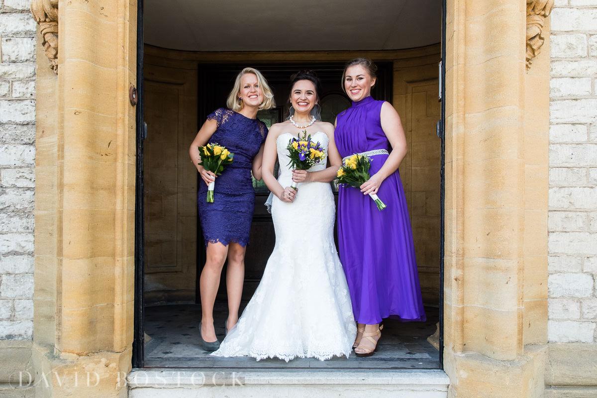 Hertford College Oxford wedding bridesmaids