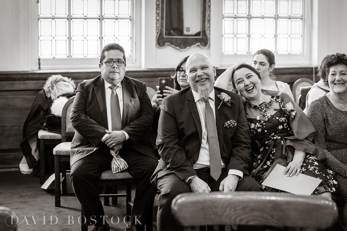 Hertford College Oxford wedding family