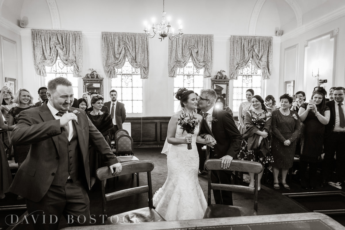 Hertford College Oxford wedding groom crying