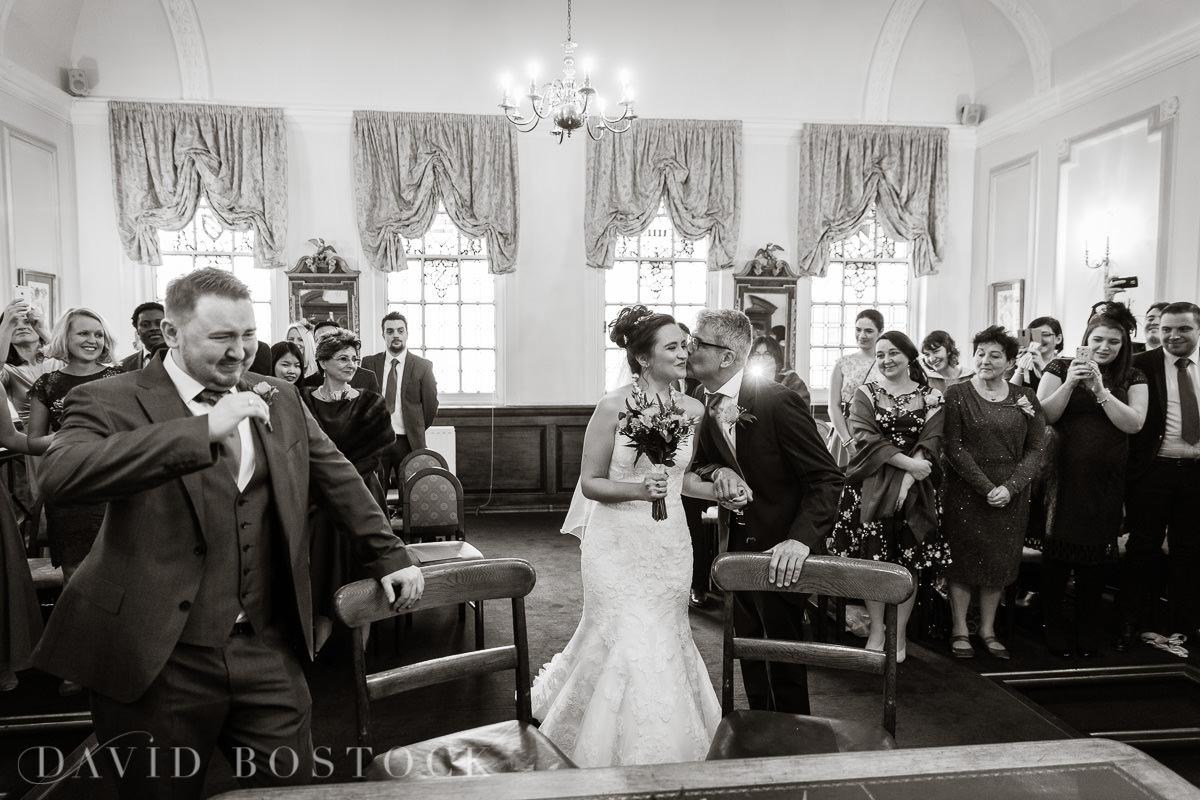 Hertford College Oxford wedding groom crying