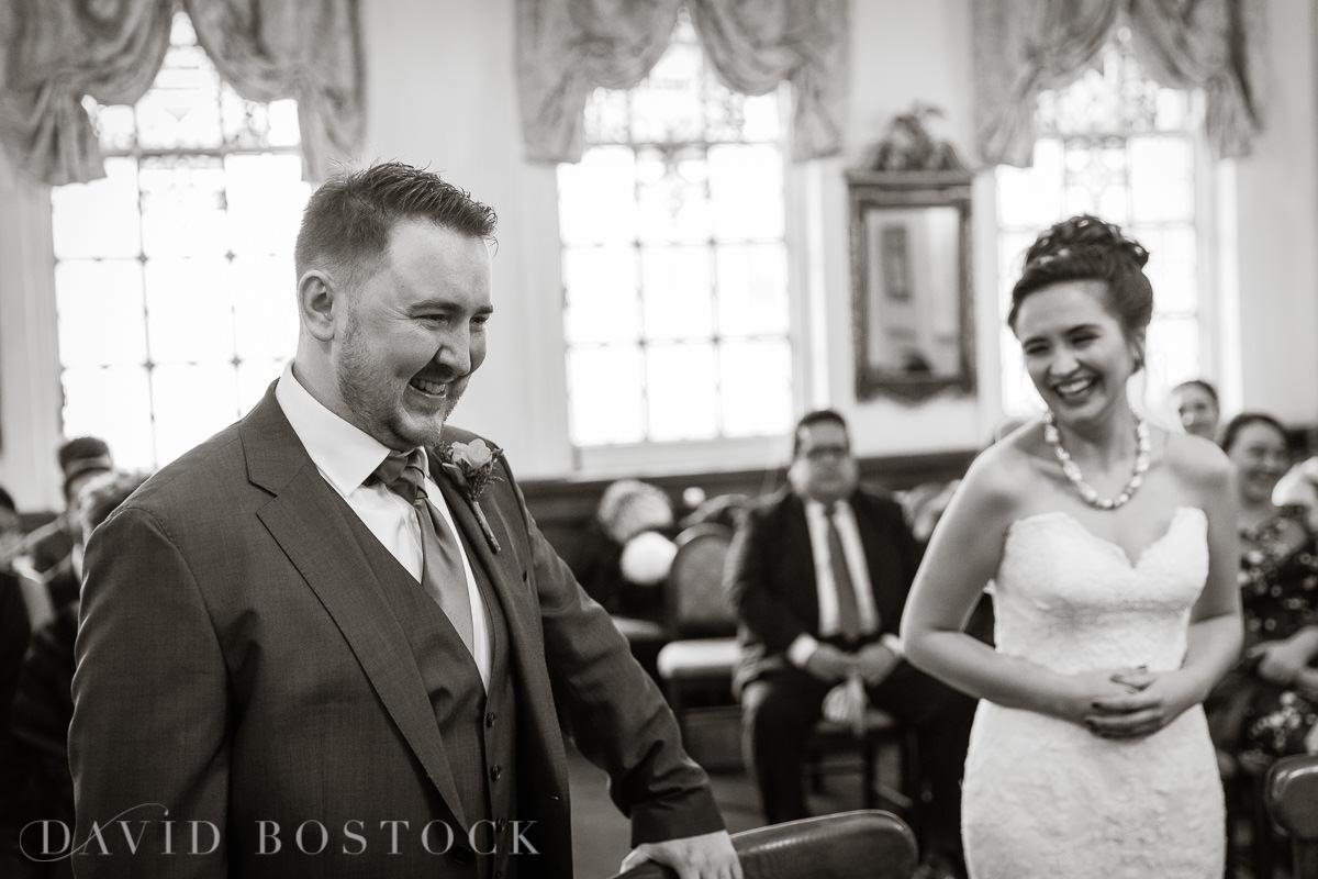 Hertford College Oxford wedding happy couple