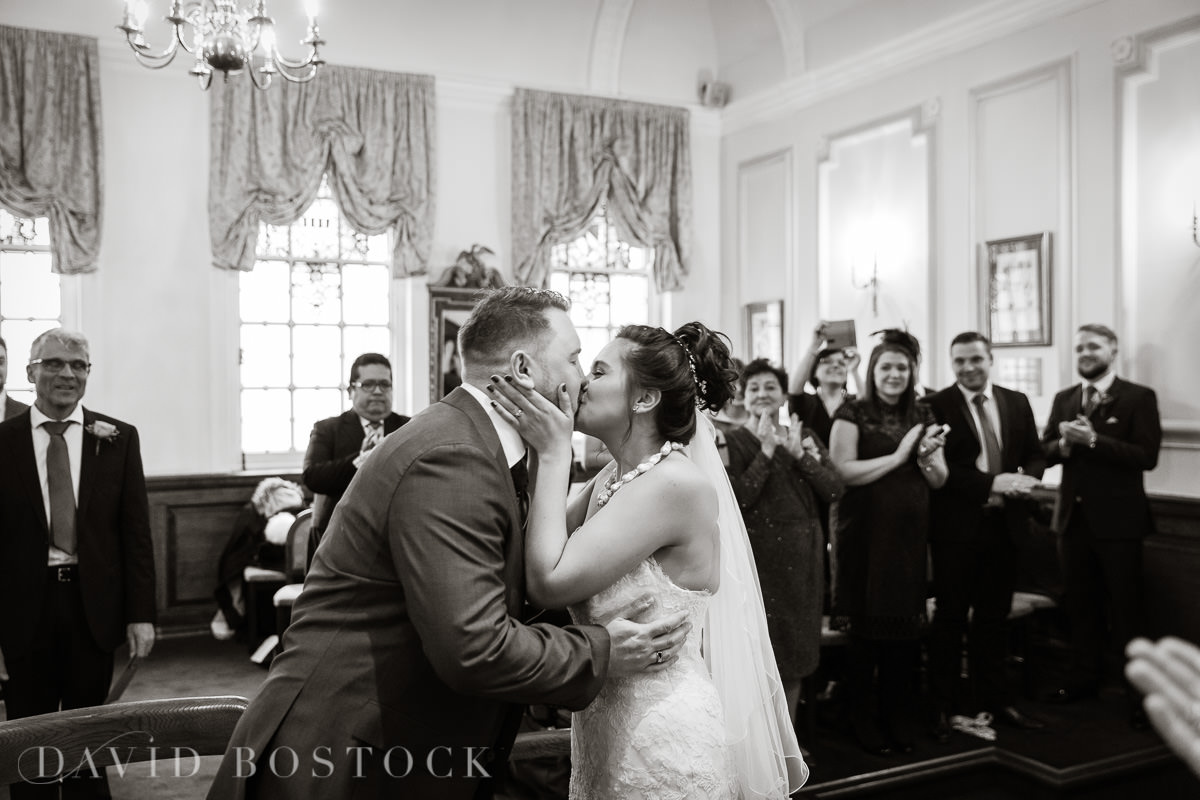 Hertford College Oxford wedding kiss