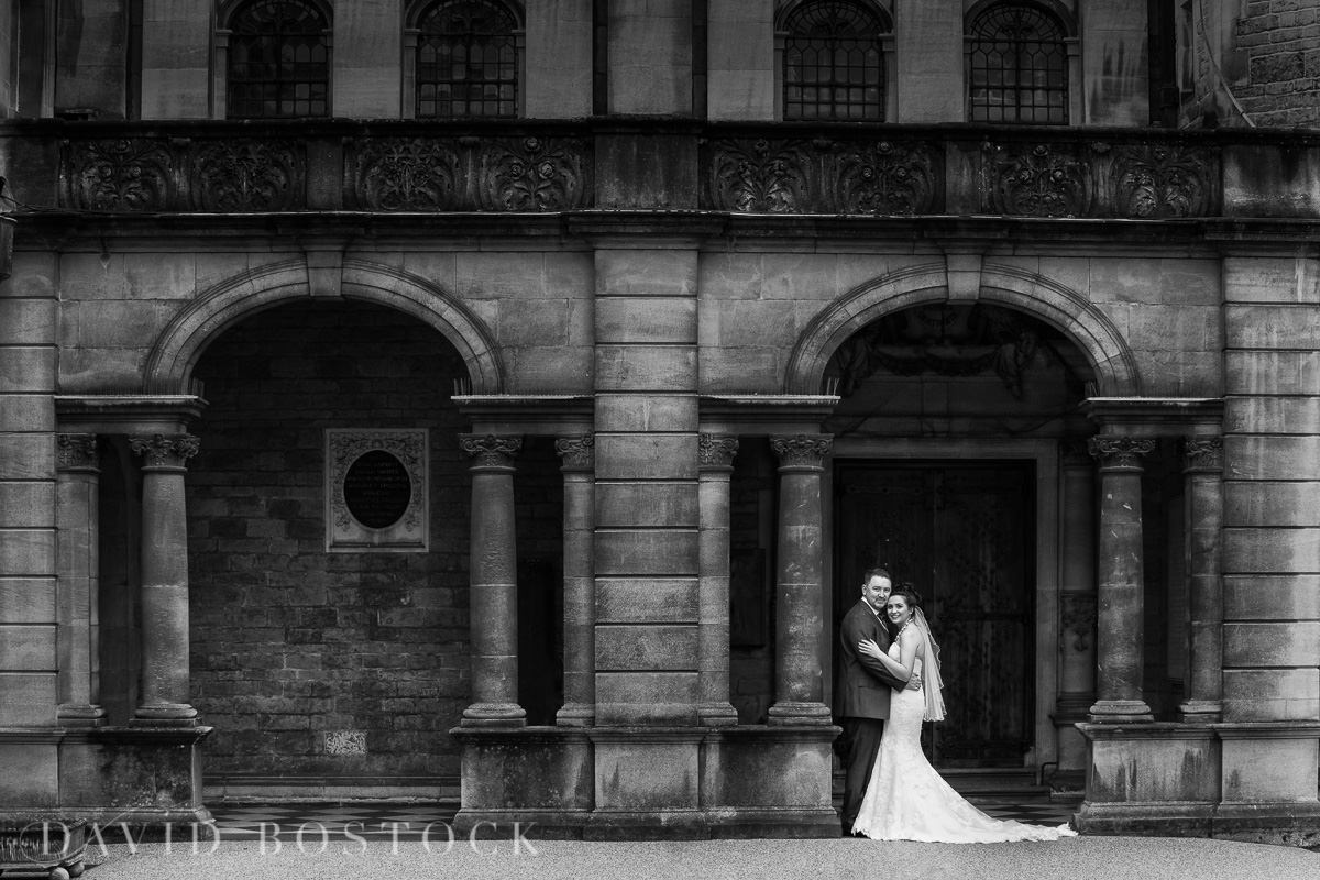 Hertford College Oxford wedding bride and groom