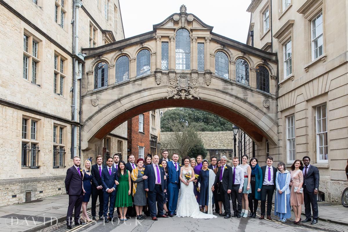 Hertford College Oxford wedding Bridge of Sighs