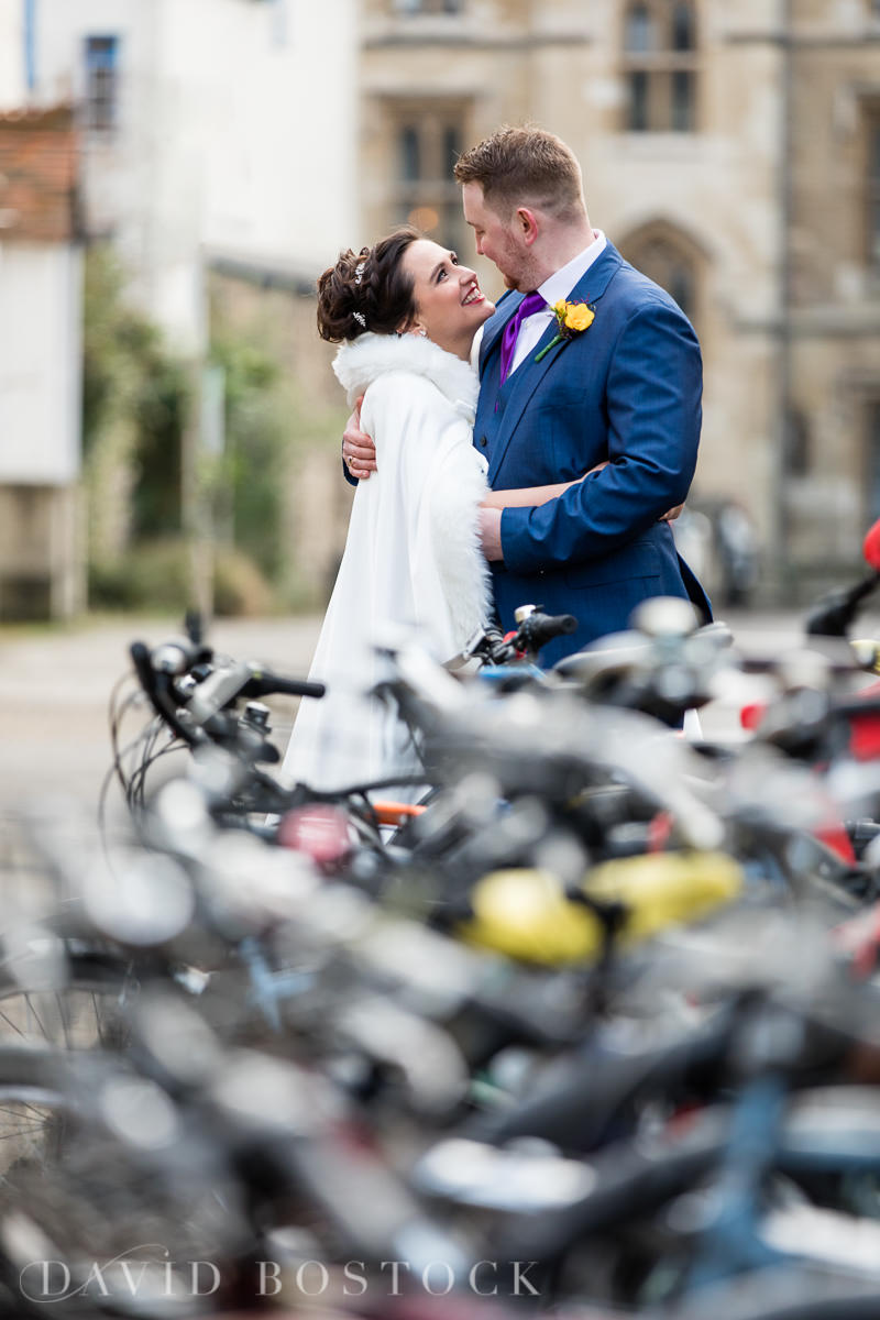 Hertford College Oxford wedding bicycles