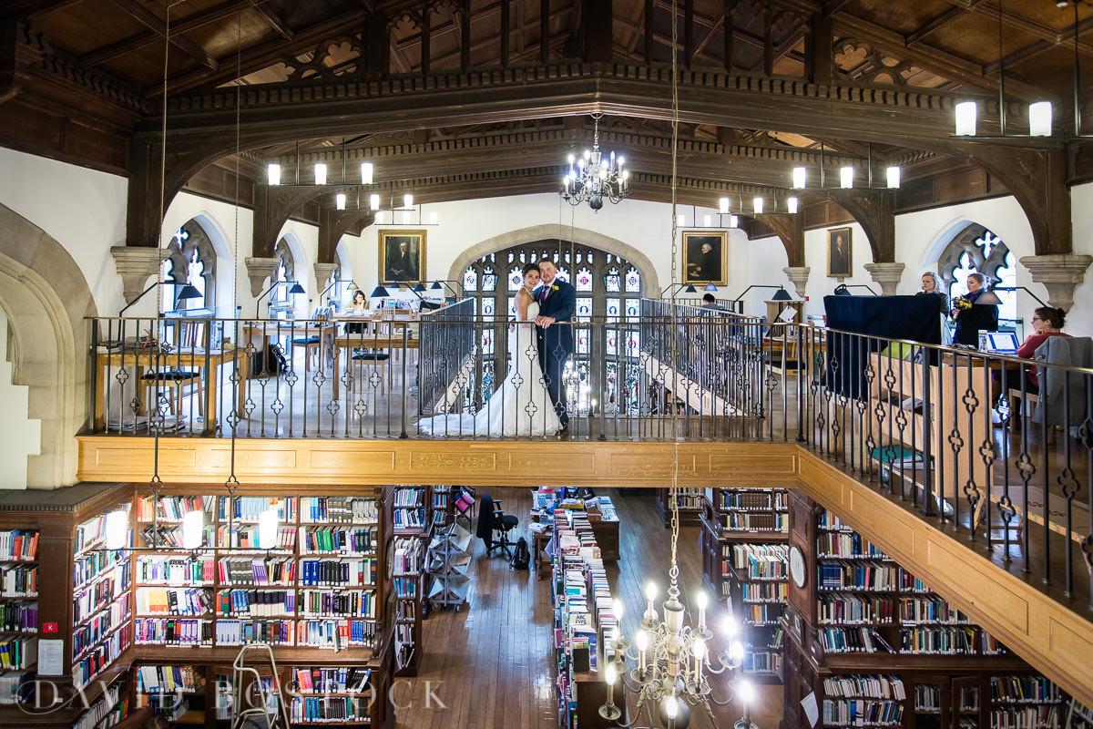 Hertford College Oxford wedding library