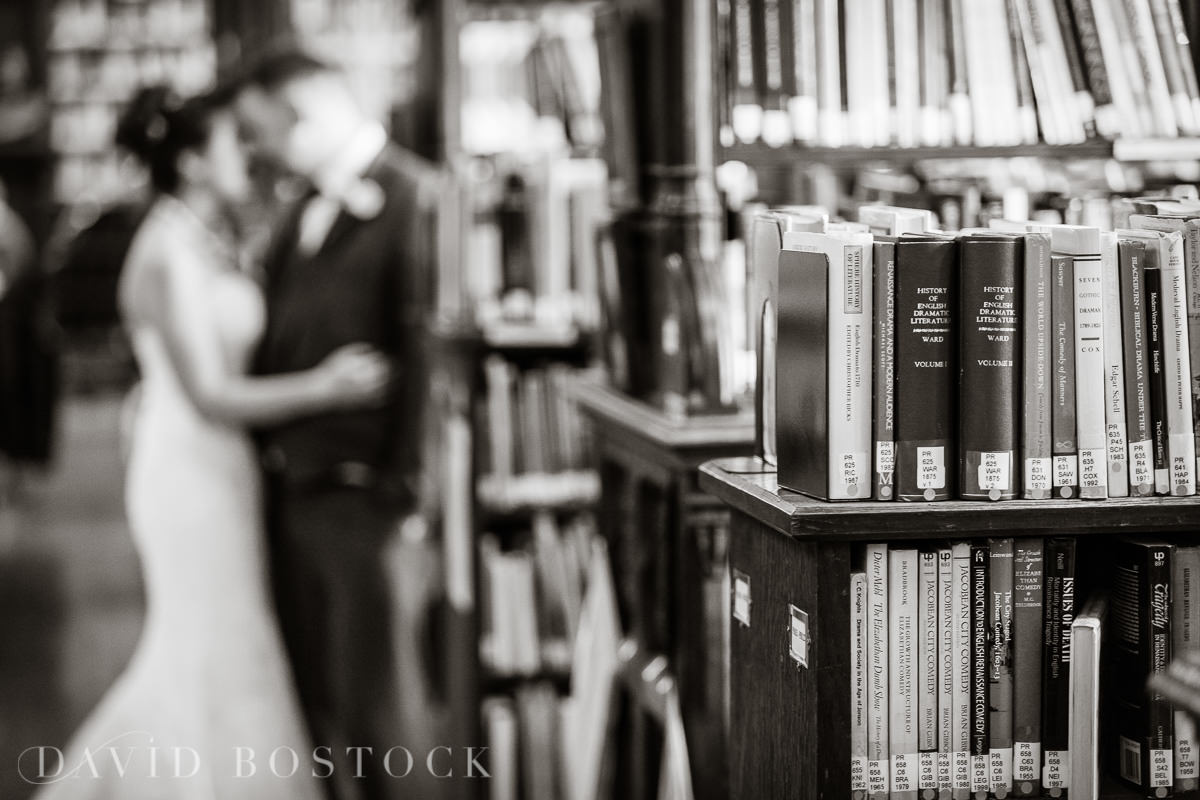 Hertford College Oxford wedding bookend library