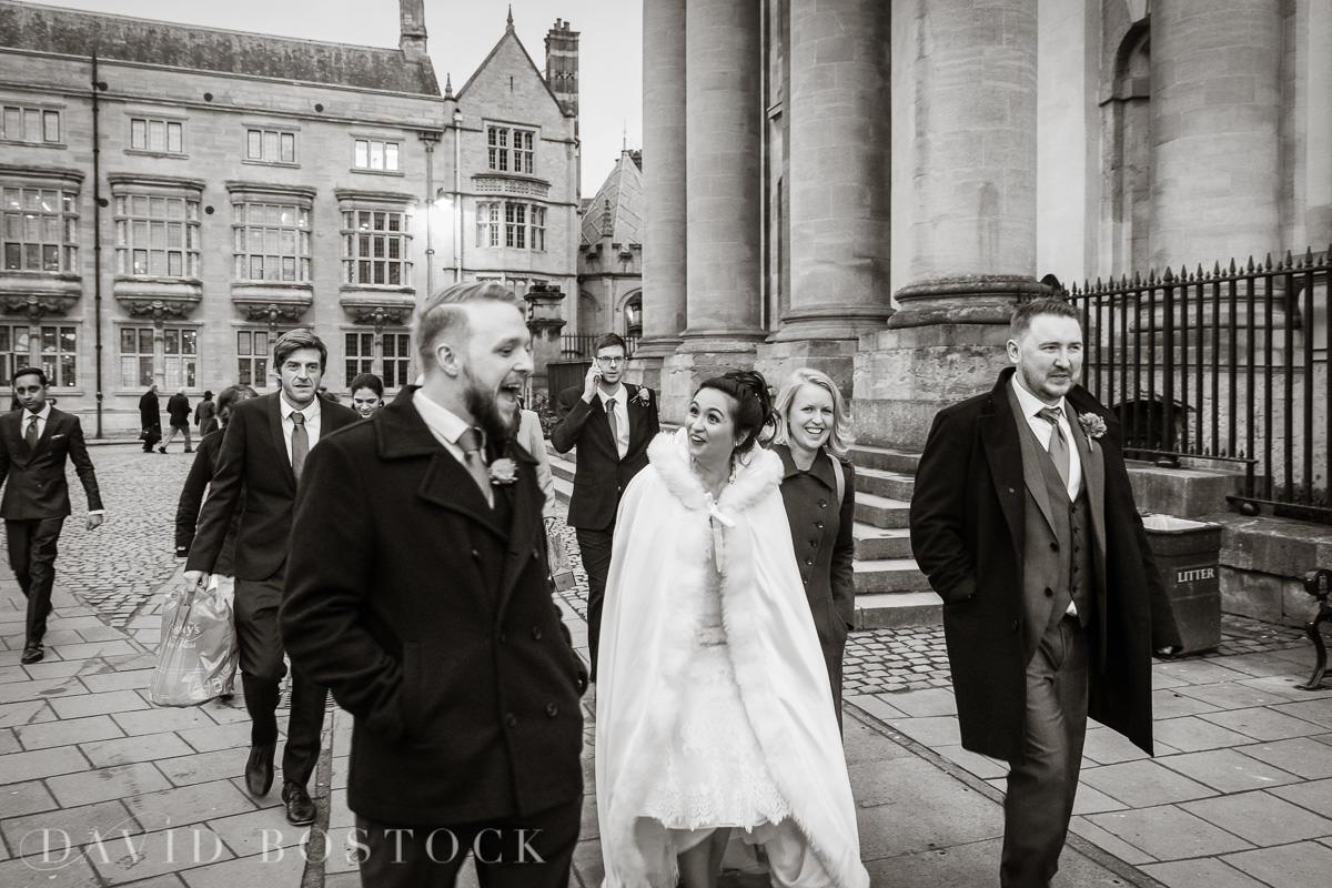 Hertford College Oxford wedding walking streets