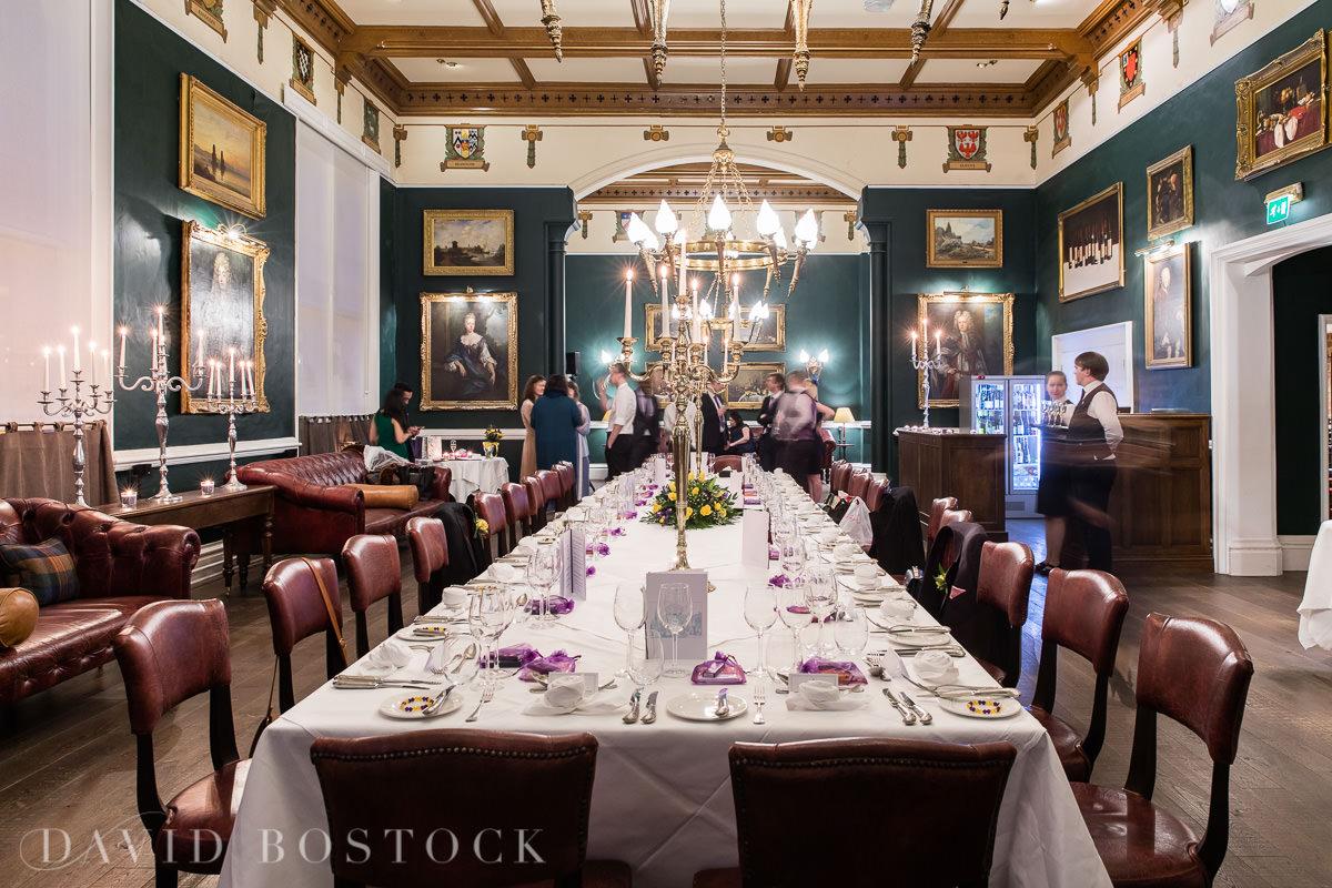 Hertford College Oxford wedding evening reception