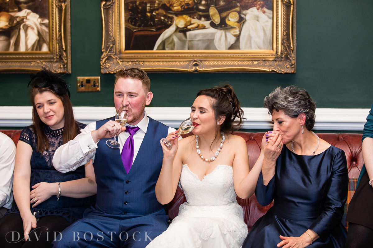 Hertford College Oxford wedding cheers