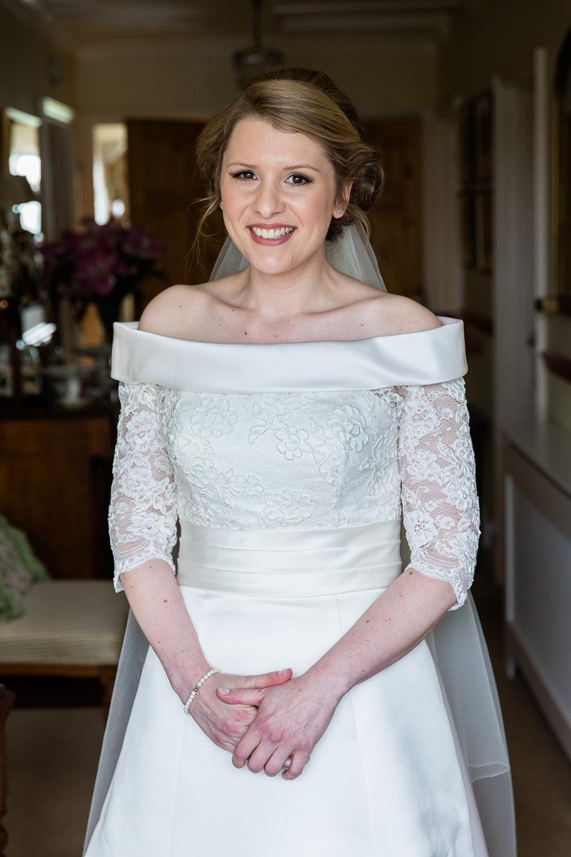 Ardington House wedding smiling bride