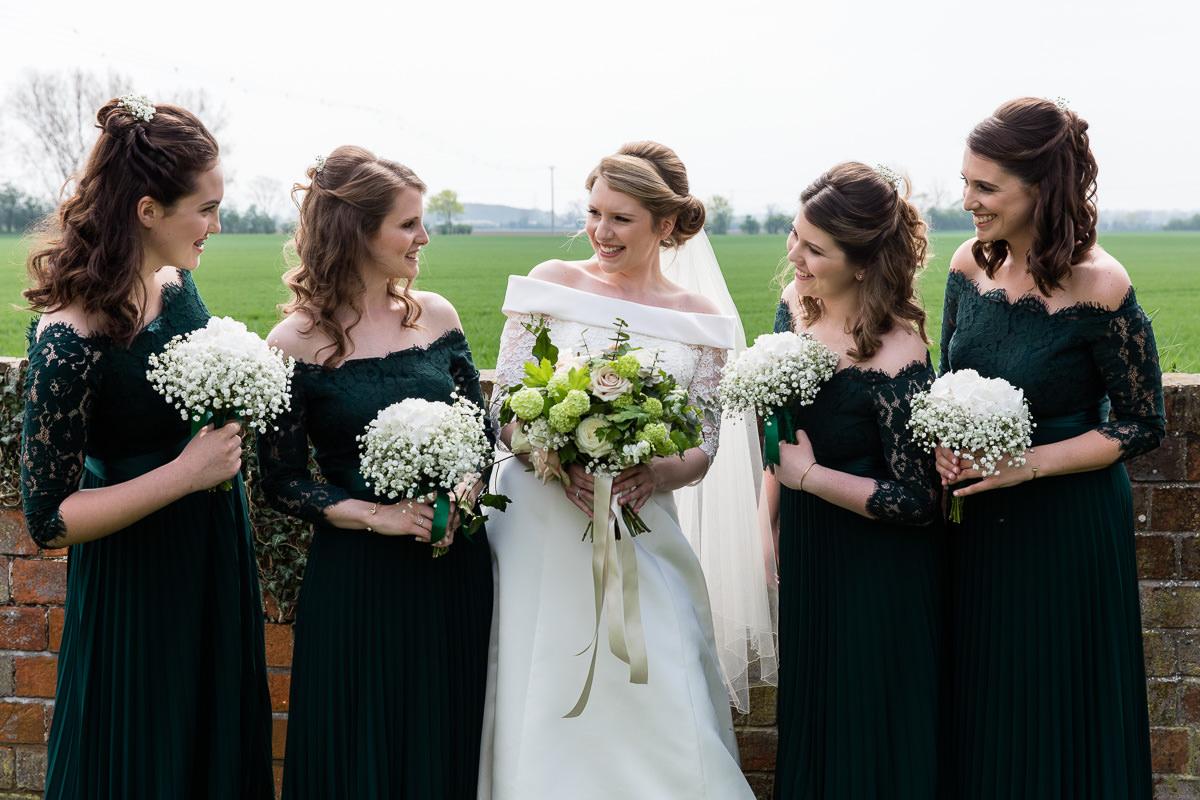 Ardington House wedding bridesmaids and bride