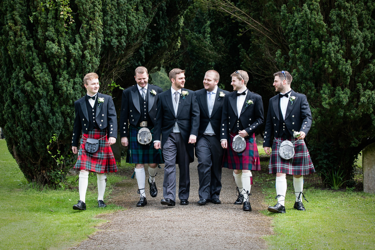 Ardington House wedding groomsmen