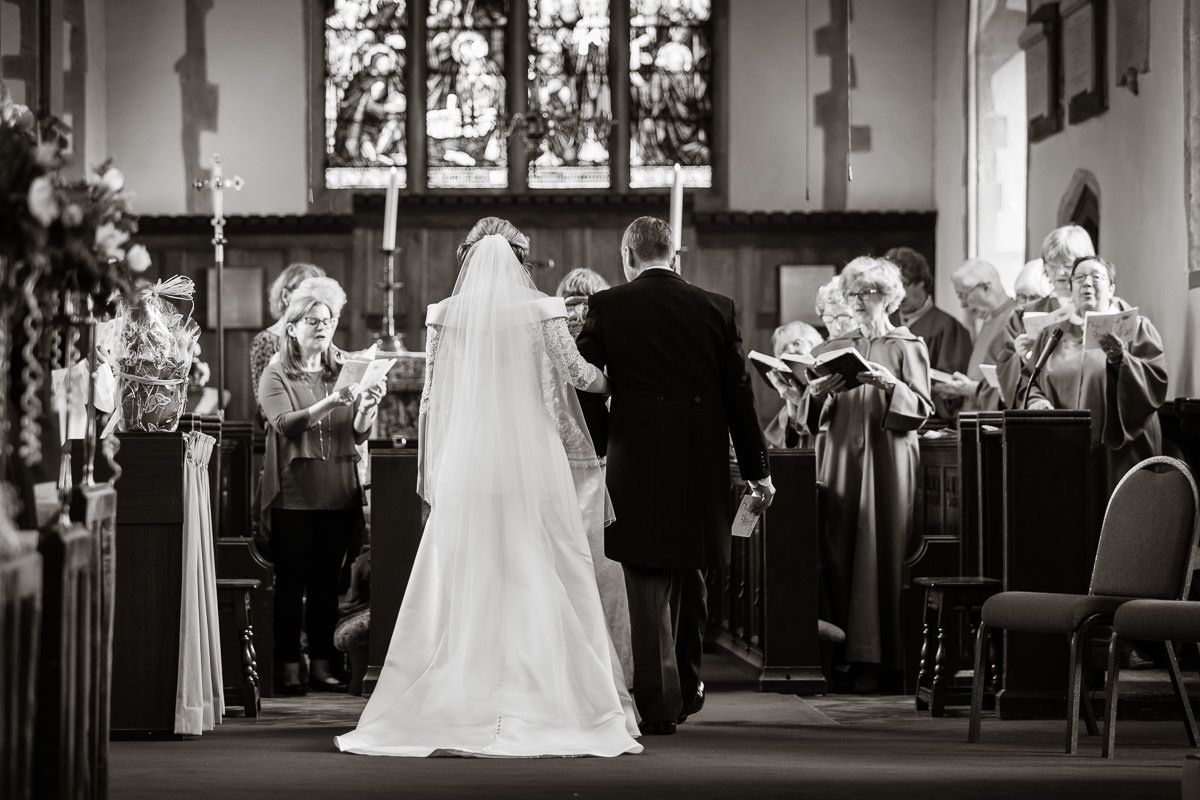 Ardington House wedding bride and groom vows