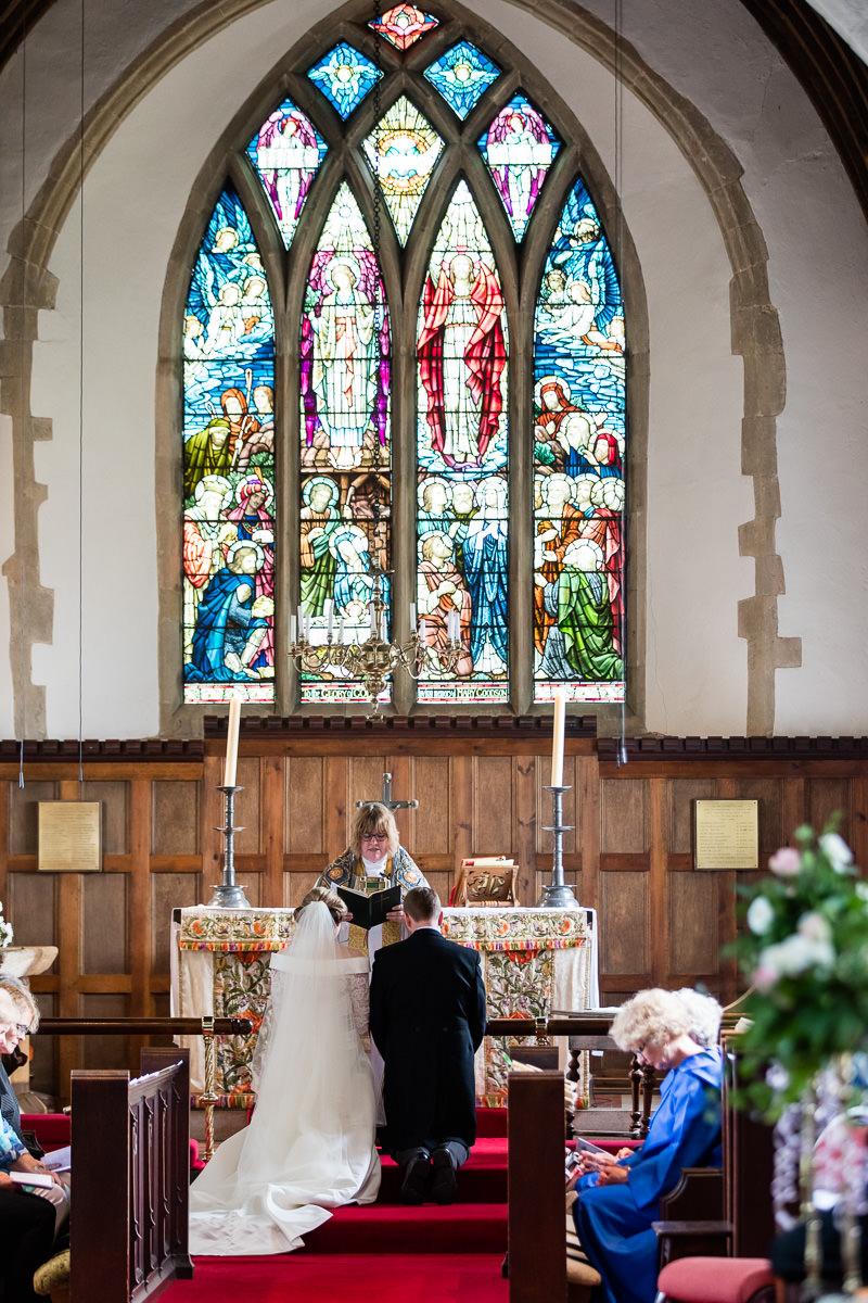 Ardington House wedding stained glass window